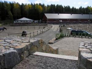 En liten del av anläggningen på Högdalen där fåren ska bosätta sig!