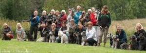 Gruppfoto på dom som gick med hund i helgen! Foto Johanna S
